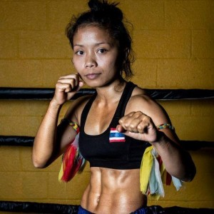 kru pol fight pose pic with abs